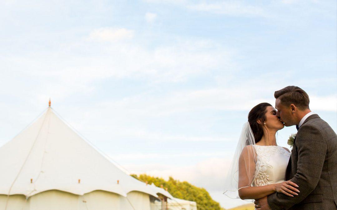 Harry & Natalie – Tent Wedding, Broughton Hall