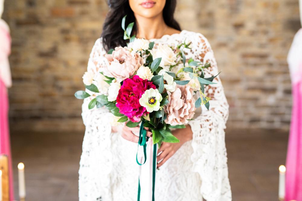 Blossom Barn weddings | Styled Shoot blossom barn | Bride at Blossom Barn | Deluxe Blooms | Natasha Cadman Photography | Where the ribbon ends cakes
